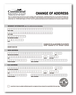 Forms and Applications - Continental Kennel Club